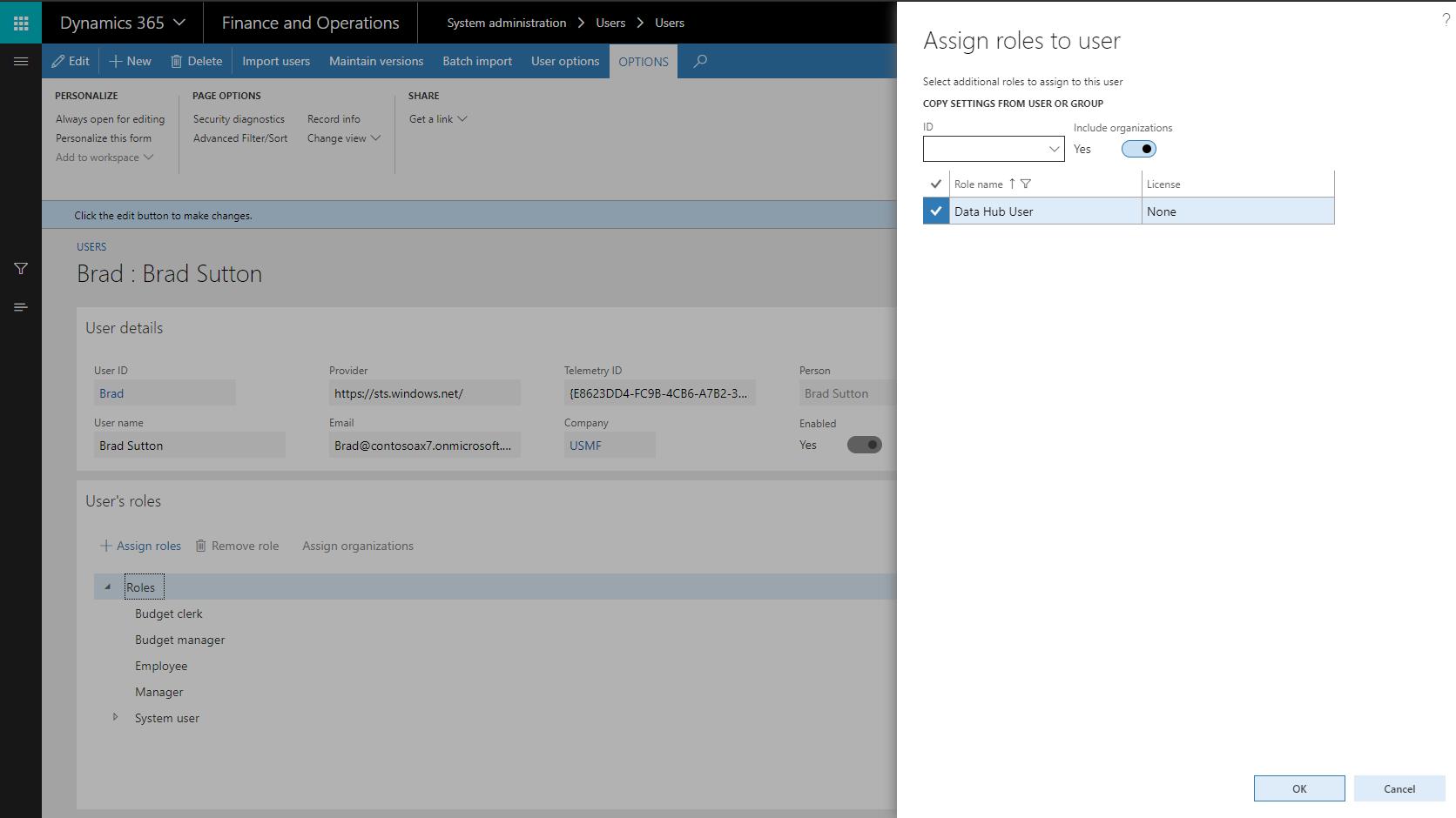 Adding the Microsoft Dynamics 365 Finance & Operations