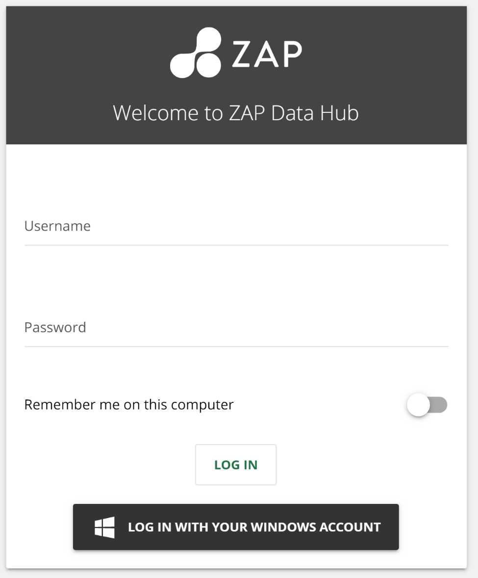 ZAP Data Hub 9 1 Release Notes